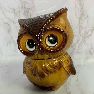 Vintage ceramic OWL figurine decor piggy bank